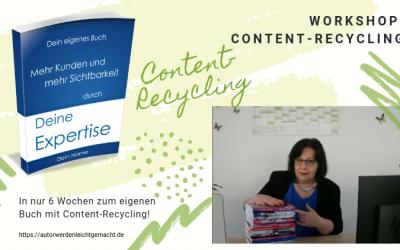 """Schneller Content für dein Expertenbuch mit """"Content-Recycling"""""""